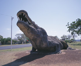 Crocodile Statue - Accommodation Ballina