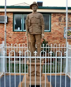 Soldier Statue Memorial Chinchilla - Accommodation Ballina