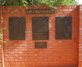 John OBrien Commemorative Wall - Accommodation Ballina