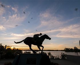 Black Caviar Statue - Accommodation Ballina