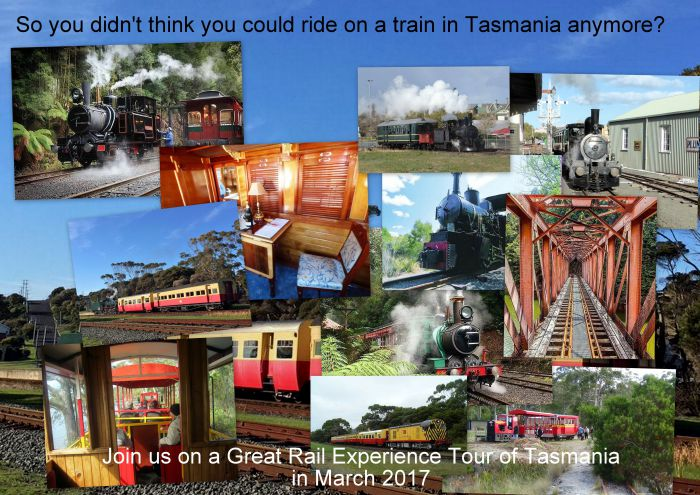 Great Rail Experiences  Tasmania Tour 2017 - Accommodation Ballina