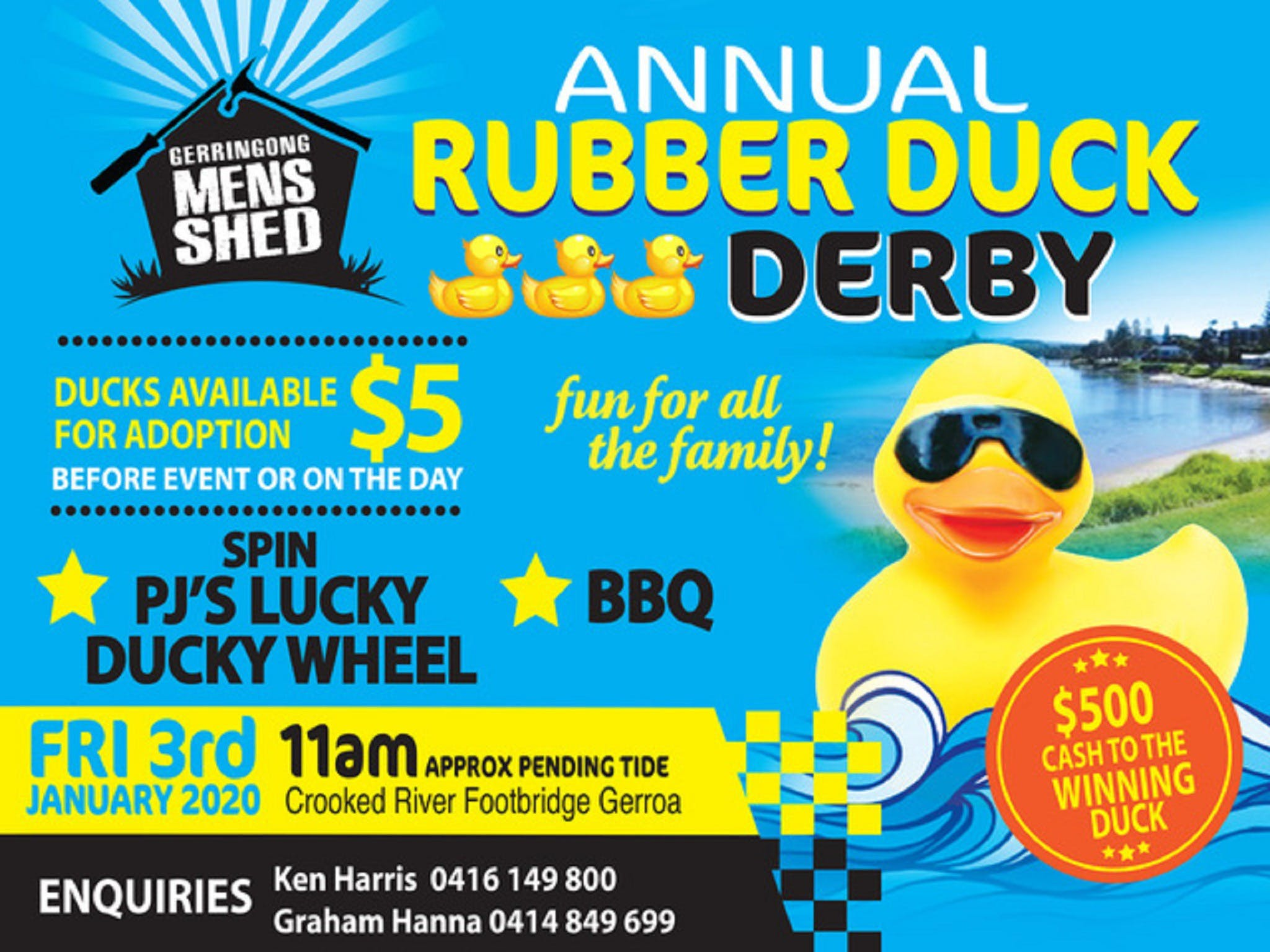 Gerringong Mens Shed Annual Duck Derby - Accommodation Ballina
