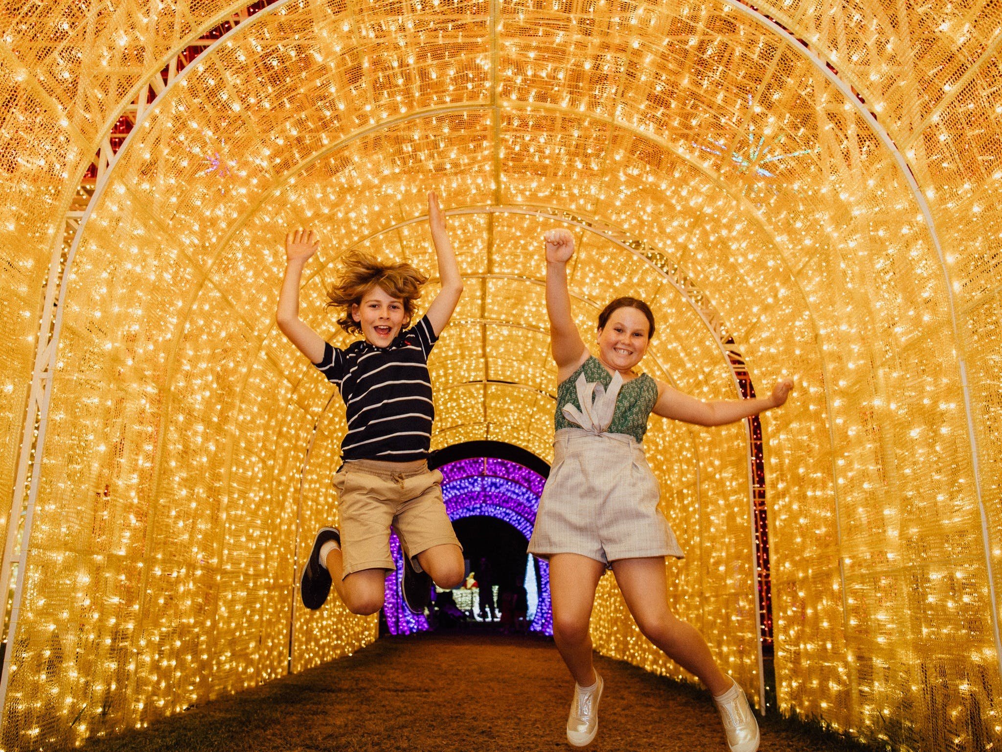Christmas Lights Spectacular New Year's Eve at Hunter Valley Gardens - Accommodation Ballina