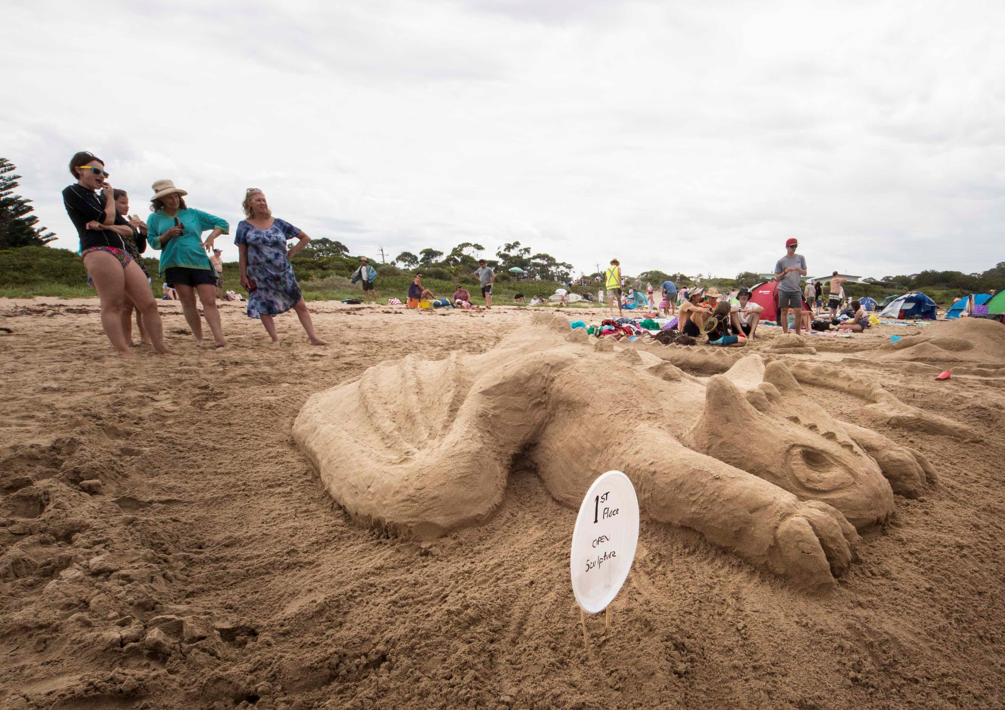 Broulee New Year's Eve Sandcastles and Sculptures - Accommodation Ballina