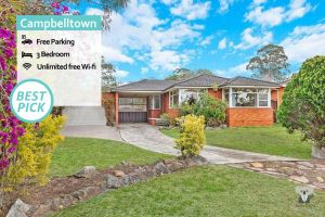CAMPBELLTOWN HOLIDAY HOME 3 BED  FREE PARKING NCA039 - Accommodation Ballina